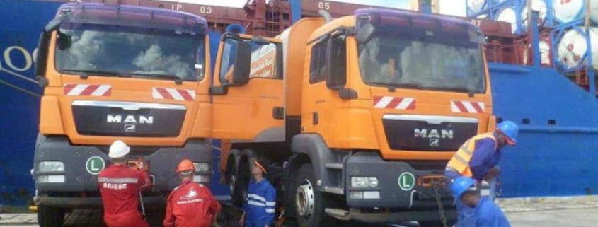 Llegan a La Habana camiones recolectores de basura desde Austria