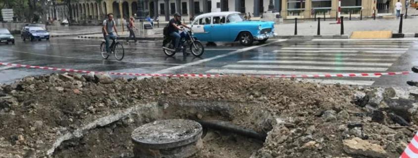 Cierran El Paseo del Prado por trabajos de Aguas de La Habana