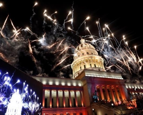 Havana celebrated its 500th anniversary with music, dancing and fireworks