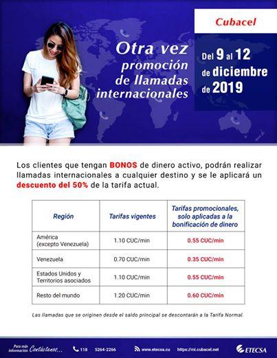 ETECSA lanza oferta de llamadas internacionales a mitad de precio