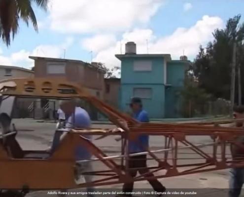 Un cubano intenta construir un avión en el garaje de su casa