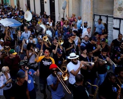 Festive New Orleans conga in Havana defies Trump Cuba policy
