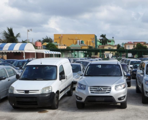 Cubans have been queuing for several days to buy used cars