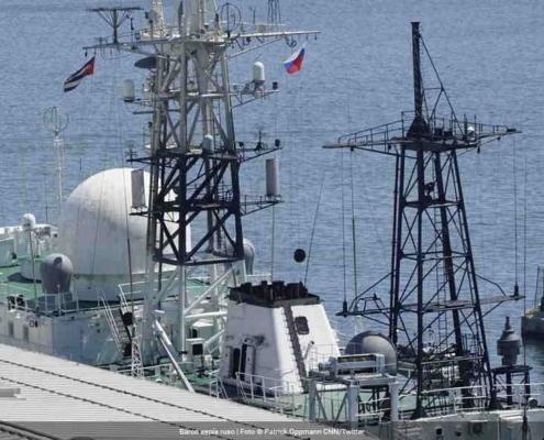 Russian spy ship seen in the port of Havana
