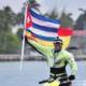 Navegante español transita playa Santa Lucía en su travesía mundial en moto acuática