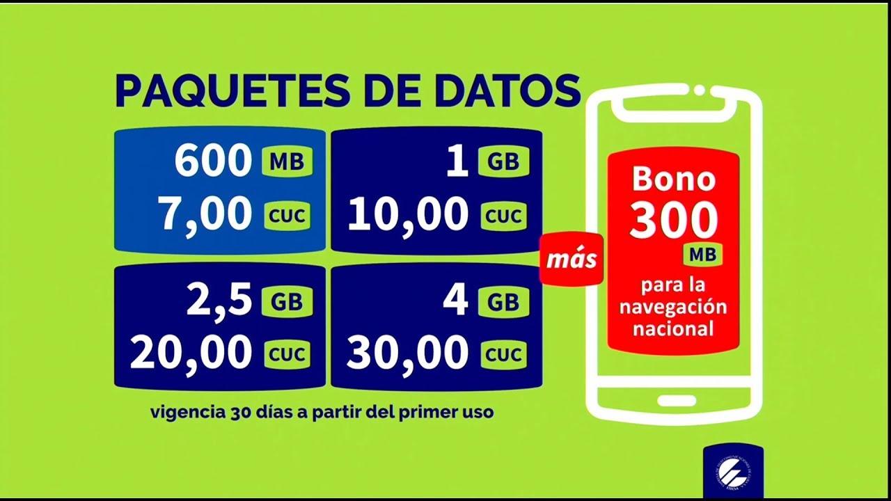 ETECSA anuncia rebajas de los precios de internet