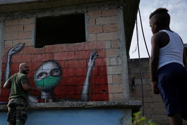 «Corona town»: des graffitis cubains dépeignent l'angoisse et demandent courage