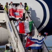 Hero's welcome as Cuban doctors return home after fighting Covid-19 in Italy