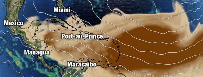 Habana áreas de Polvo del Sahara, pero mañana en la mañana ocurrirá la mayor concentración