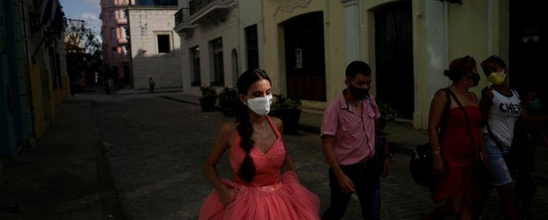 Face mask fashion: Cuban quinceaneras in the coronavirus era