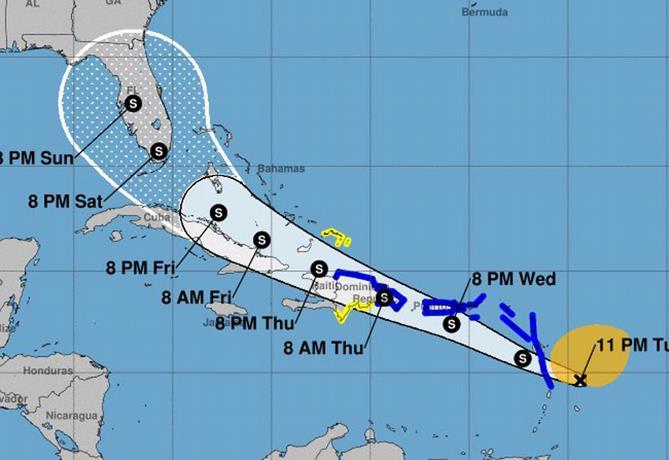 tormenta tropical Isaías
