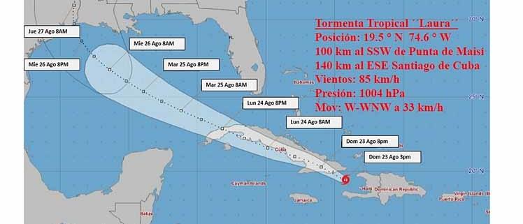 Tropical storm Laura
