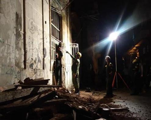 Derrumbe en la Habana Vieja deja una persona herida