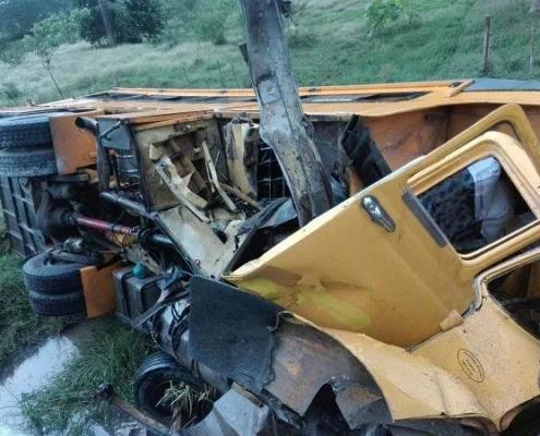 Reportan accidente de tránsito en la carretera central próximo a Sibanicú, en Camagüey