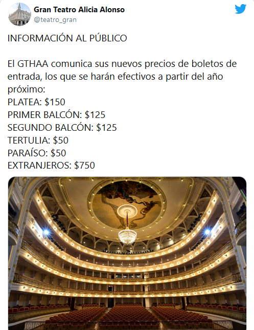 Cuba les prix