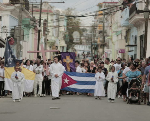 Catholic church in Cuba urges dialogue after rare protest
