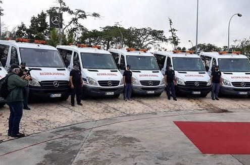 14 Mercedes-Benz ambulances donate to fight COVID-19