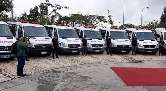 14 Mercedes-Benz ambulances donate to fight COVID-19