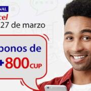 Promoción de Cubacel con 1GB de internet y 800 CUP de bono