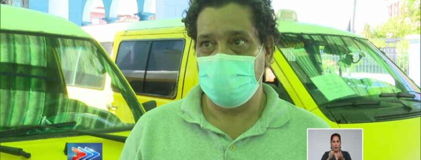 250 Taxis-Cuba choferes apoyan en la transportación de pacientes positivos en La Habana