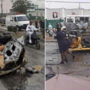 Nuevas imágenes del accidente múltiple ocurrido este lunes en la Vía Blanca
