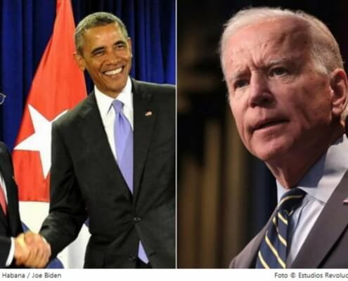 Biden no va a retomar la política de Obama para Cuba