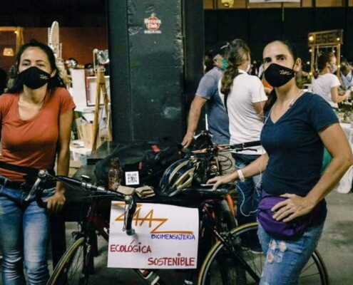 Women leading the bicycle messaging services in Cuba