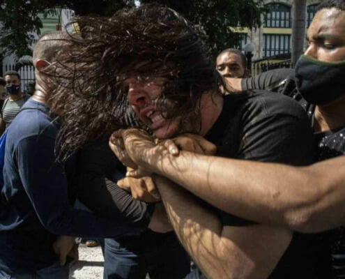 Police patrol Havana in large numbers after rare protests