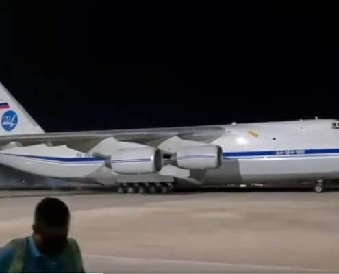 Russia sent two Antonov AN-124 freighters to Cuba with humanitarian aid