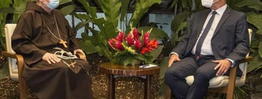 Boston cardinal meets Cuban leader on visit to Havana